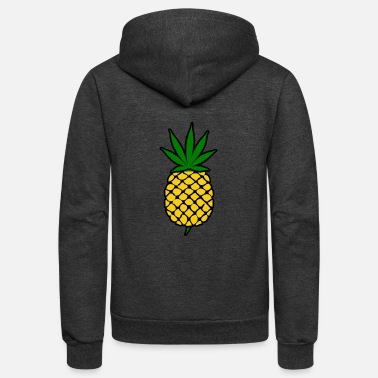 Leaf pineapple express - Unisex Fleece Zip Hoodie
