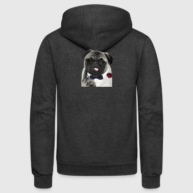 Secret Agent Pug - Unisex Fleece Zip Hoodie