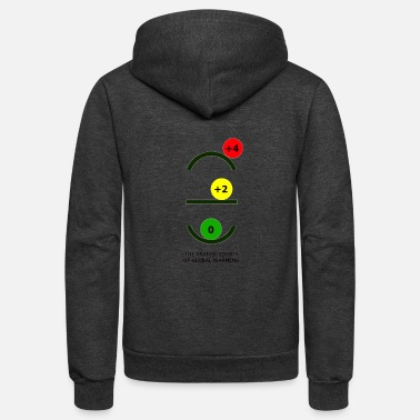 The Traffic Lights of Global Warming - Unisex Fleece Zip Hoodie
