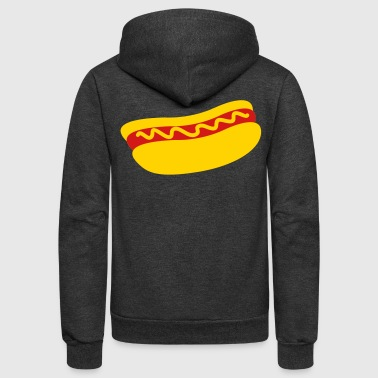 hotdog with mustard - Unisex Fleece Zip Hoodie