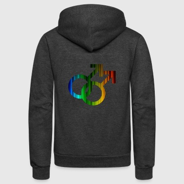 Male Gay Pride - Unisex Fleece Zip Hoodie