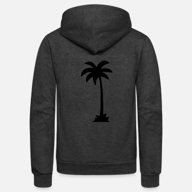 Palm Trees palm - palm tree - Unisex Fleece Zip Hoodie