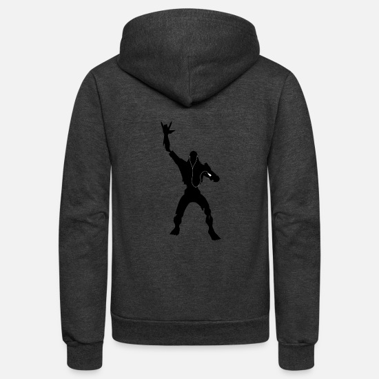 World Hoodies & Sweatshirts - undead ipod - Unisex Fleece Zip Hoodie charcoal gray