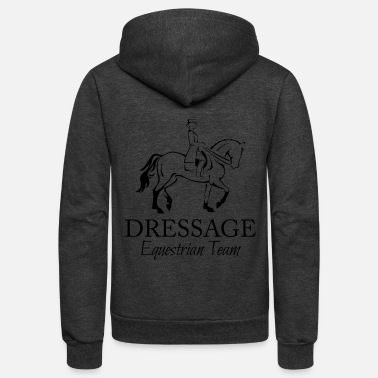 Dressage Female Dressage Rider and Horse - Unisex Fleece Zip Hoodie