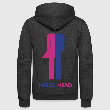 Ladyboy Needs Head - Unisex Fleece Zip Hoodie