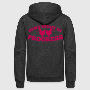hens night in progress with party hens - Unisex Fleece Zip Hoodie