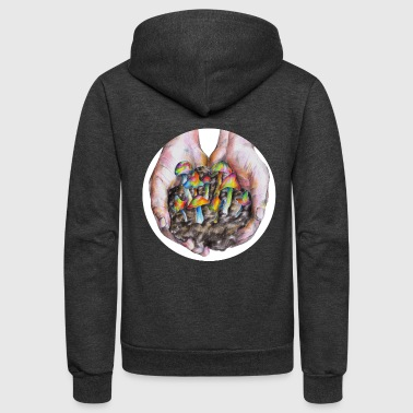 Magic mushrooms - Unisex Fleece Zip Hoodie