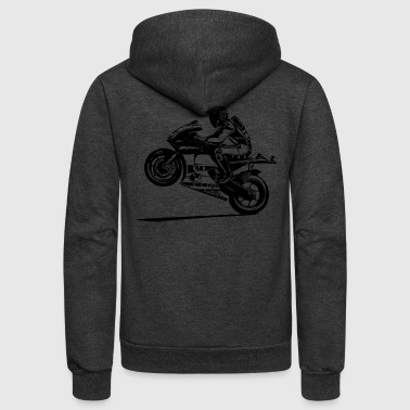 hot-rider-bikers-racing-sport-motorcycling - Unisex Fleece Zip Hoodie