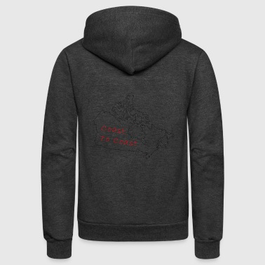 Coast to Coast - Unisex Fleece Zip Hoodie