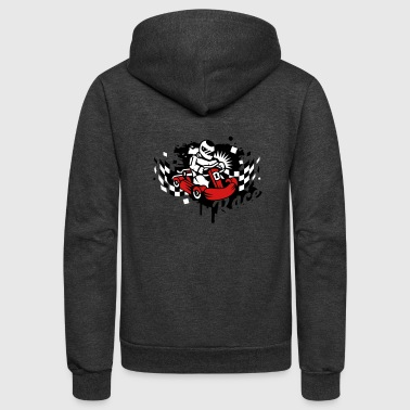 A kart racer graffiti - Unisex Fleece Zip Hoodie