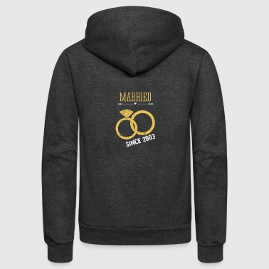 Married since 2003 - Unisex Fleece Zip Hoodie by American Apparel