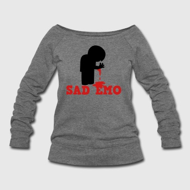 SAD EMO with blood - Women's Wideneck Sweatshirt