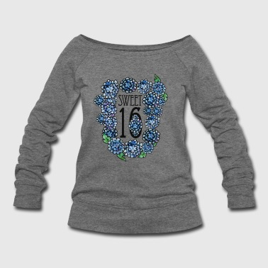 Sweet 16 birthday party - Women's Wideneck Sweatshirt