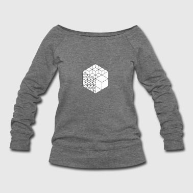 cubes - Women's Wideneck Sweatshirt