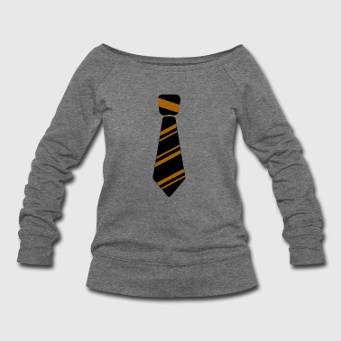 Neck Tie Neck Tie brown - Women's Wideneck Sweatshirt