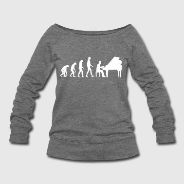 piano evolution - Women's Wideneck Sweatshirt