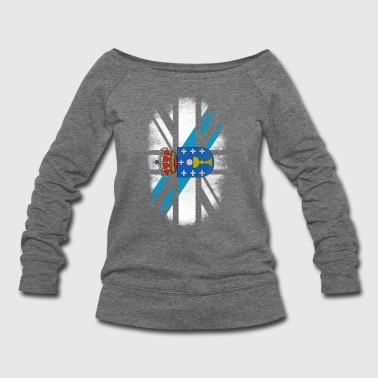 British Galician Flag - Galicia and UK Pride TShirt - Women's Wideneck Sweatshirt