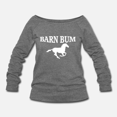 Bum Barn Bum  - Women's Wide-Neck Sweatshirt