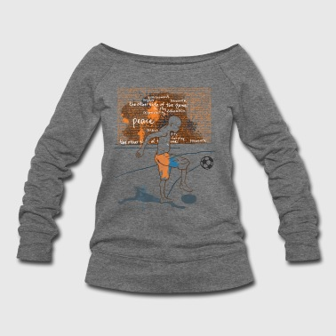 Serce I love Football - Women's Wideneck Sweatshirt