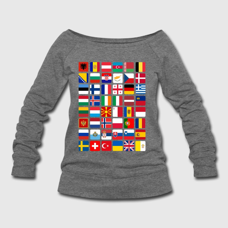 European Flags - Women's Wideneck Sweatshirt