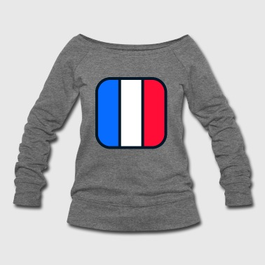 france flag - Women's Wideneck Sweatshirt