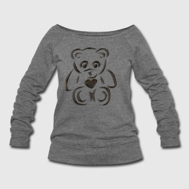 realistic teddy - Women's Wideneck Sweatshirt