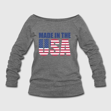 Made In Usa Made in The USA pRESIDENT'S DAY - Women's Wideneck Sweatshirt
