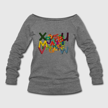Letters - Women's Wideneck Sweatshirt