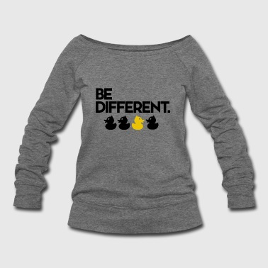 Be Different Duck Toy - Women's Wideneck Sweatshirt