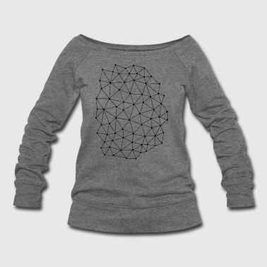 Triangle pattern - Women's Wideneck Sweatshirt