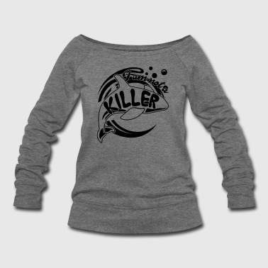 Killer Whale Not A Killer Shirt - Women's Wideneck Sweatshirt