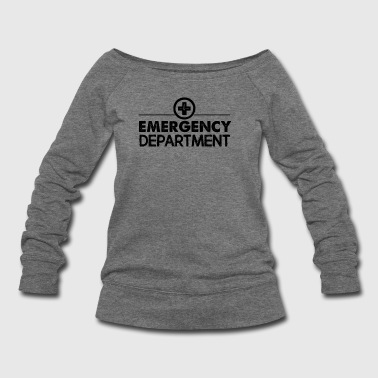 Emergency Department Shirt - Women's Wideneck Sweatshirt