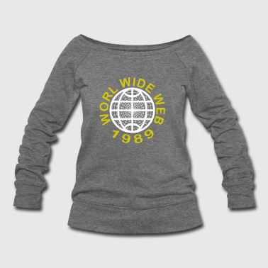 World Wide Web 1989 - Women's Wideneck Sweatshirt