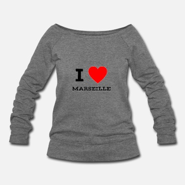 Marseille i love Marseille - Women's Wideneck Sweatshirt