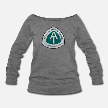 Rustic Rustic Appalachian Trail AT Logo - Women's Wideneck Sweatshirt