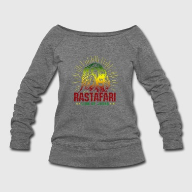 Rastafari - Lion Of Judah Reggae Music Rasta Gift - Women's Wideneck Sweatshirt