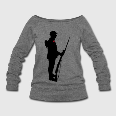 Ww1 A SOLDIER WW1 - Women's Wideneck Sweatshirt
