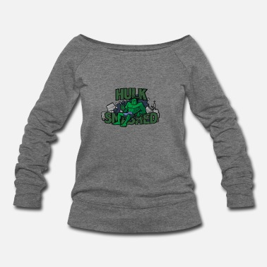 Hulk Hulk smash - Women's Wideneck Sweatshirt