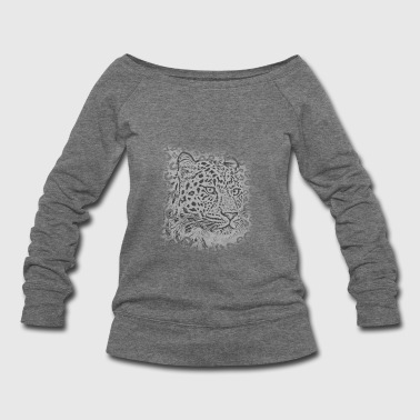 transparent leopard  - Women's Wideneck Sweatshirt