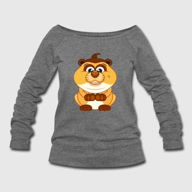 Hamster-animal-rodent-wildlife - Women's Wideneck Sweatshirt