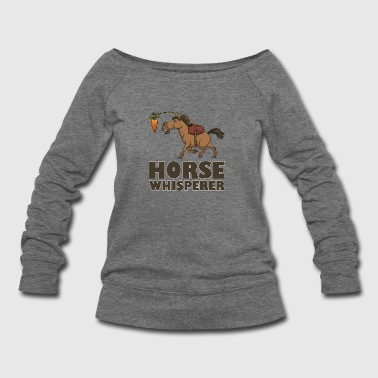 Horse Whisperer Carrot - Women's Wideneck Sweatshirt