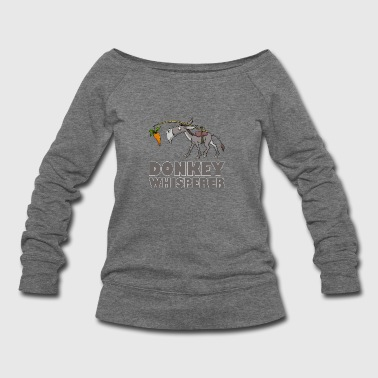 Donkey Whisperer Mule Carrot - Women's Wideneck Sweatshirt
