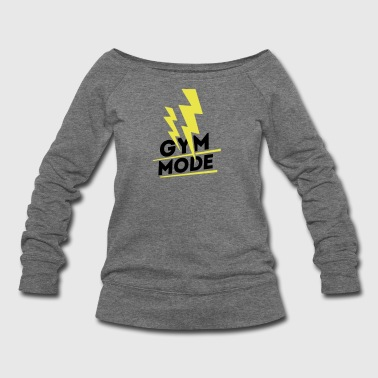 Gym Wear Gym Mode, gym wear - Women's Wideneck Sweatshirt