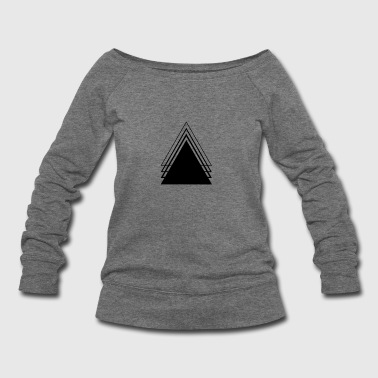 Triangle Geometry Design Minimalist - Women's Wideneck Sweatshirt