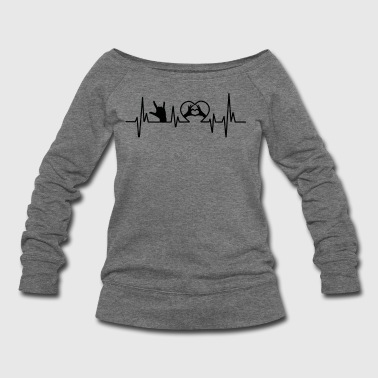 Language Sign Language Heart Shirt - Women's Wideneck Sweatshirt