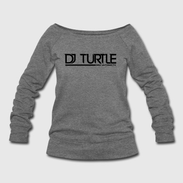 vector djturtle - Women's Wideneck Sweatshirt