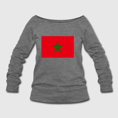Morocco country flag love my land patriot - Women's Wideneck Sweatshirt