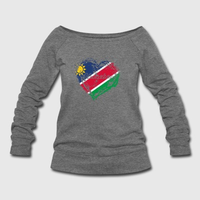 HOME ROOTS COUNTRY GIFT LOVE Namibia - Women's Wideneck Sweatshirt