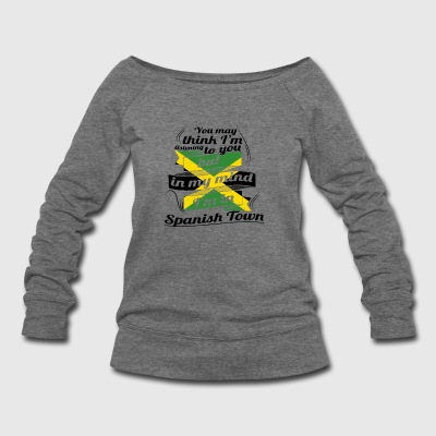 URLAUB jamaika ROOTS TRAVEL I M IN Jamaica Spanish - Women's Wideneck Sweatshirt