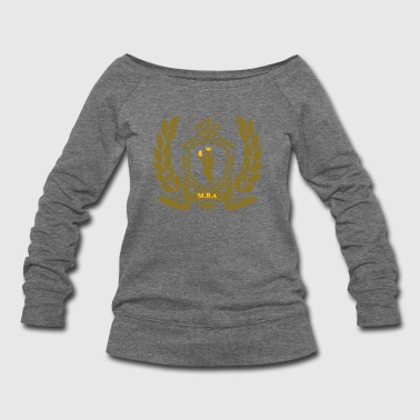 Conscious King (Crest) - Women's Wideneck Sweatshirt